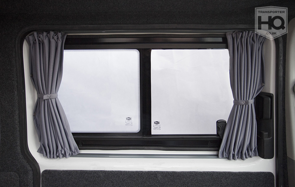 Grey Vw T5 T6 Sliding Door Passenger Side Curtains