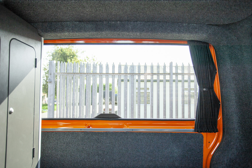 Black Vw T5 T6 Tailgate Curtains Curtains Camper Glass