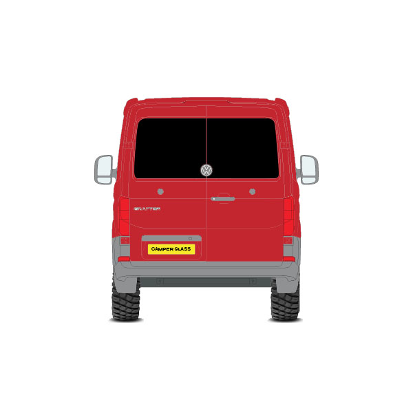 VW Crafter Rear Barn Door Privacy Windows (2017~Current Year)